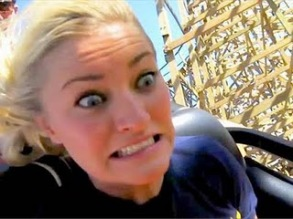 scared on roller coaster